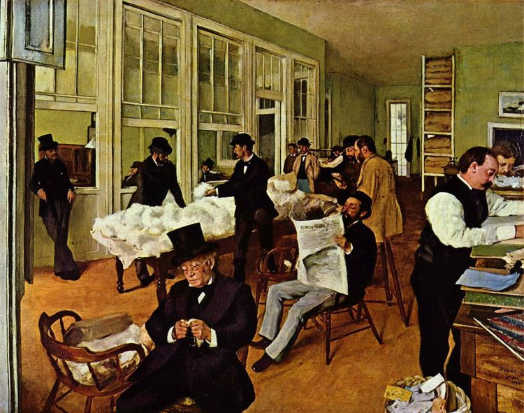 Degas, the cotton exchange