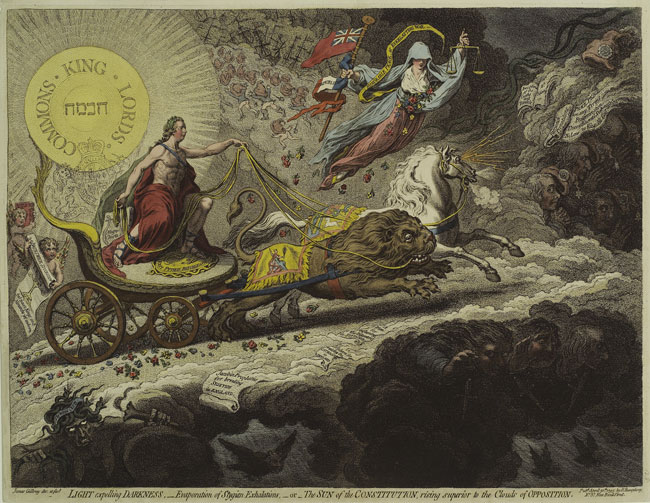 Gilray, Light expelling Darkness