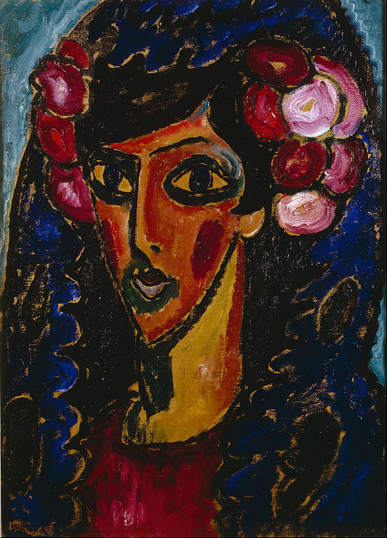 Alexej von Jawlensky, The Blue Mantilla