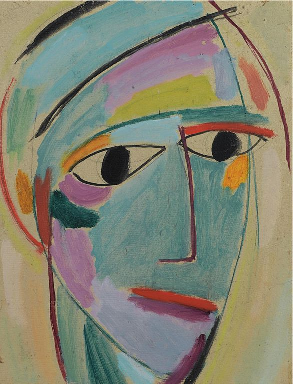 Jawlensky, mystic head, third profile