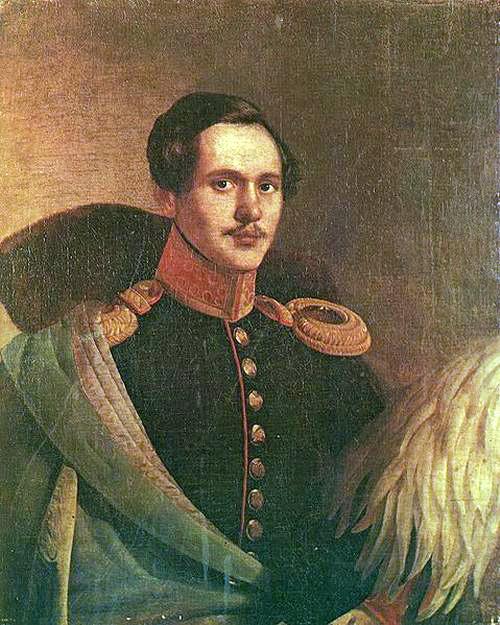Pyotr Zakharov-Chechenets portrait of Mikhail Lermontov