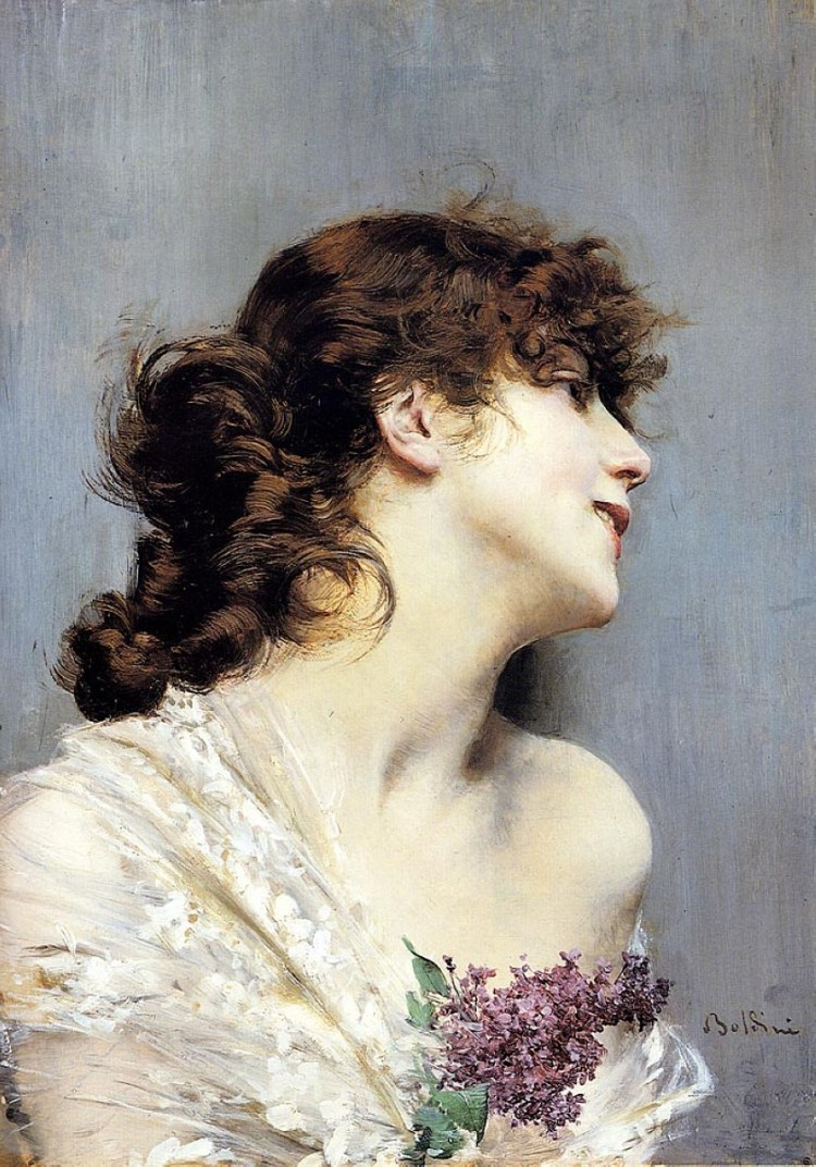 Boldini, profile of a young woman