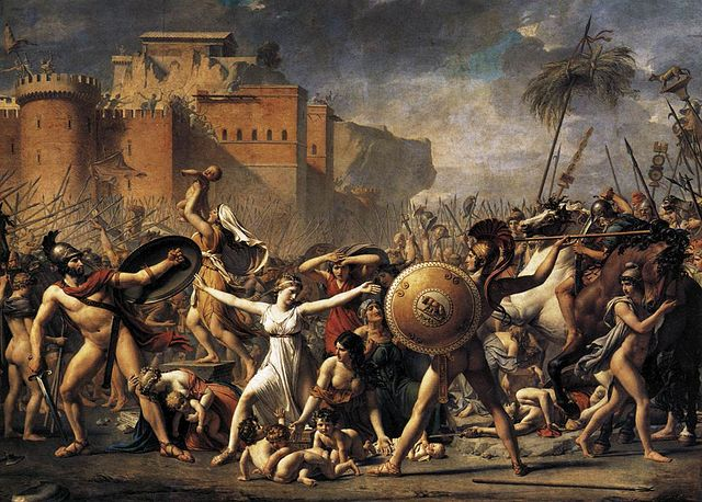 David, the intervention of the Sabine women