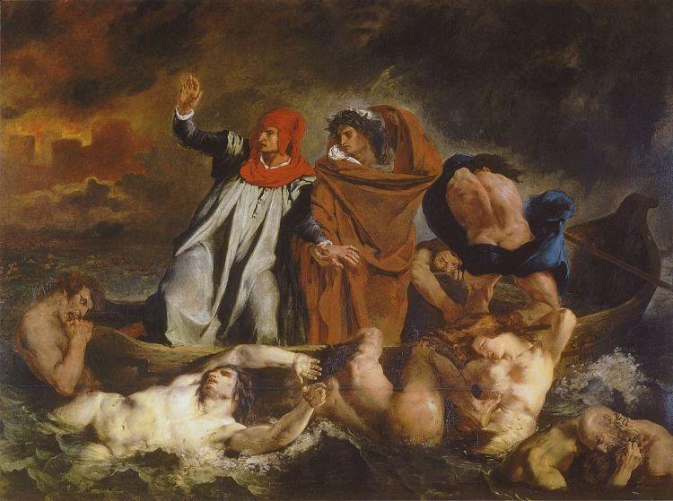 Delacroix Barque of Dante