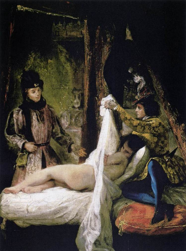 Eugène Delacroix, Louis d'Orléans showing his mistress
