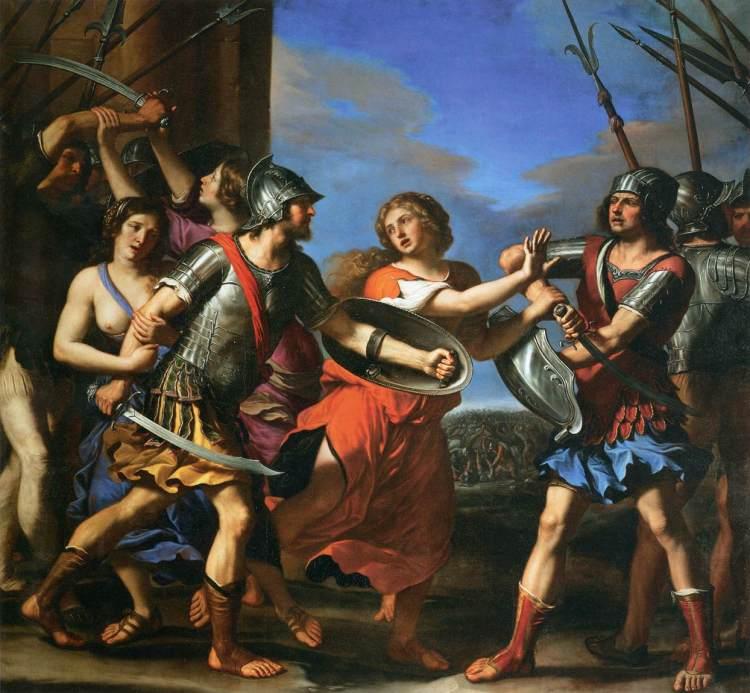 Guercino, Hersilia Separating Romulus and Tatius