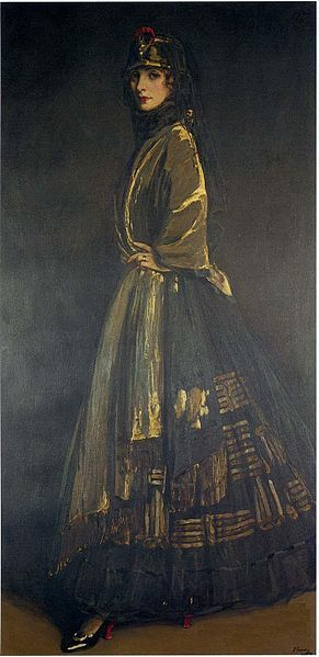 John Lavery, Hazel in Black and Gold
