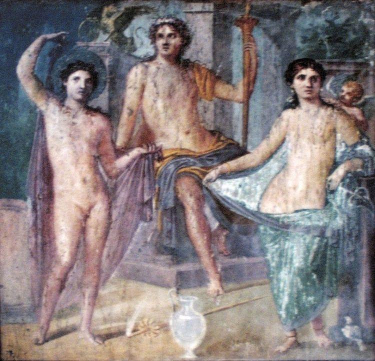 Pompeii fresco, Zeus enthroned