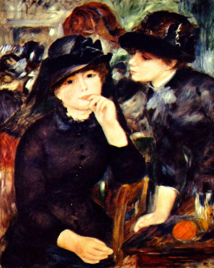 Renoir, two girls in black