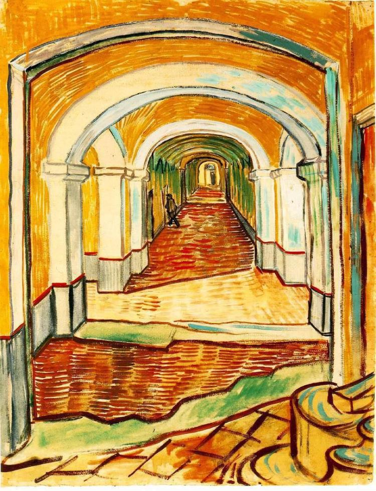 van Gogh, corridor in the asylum