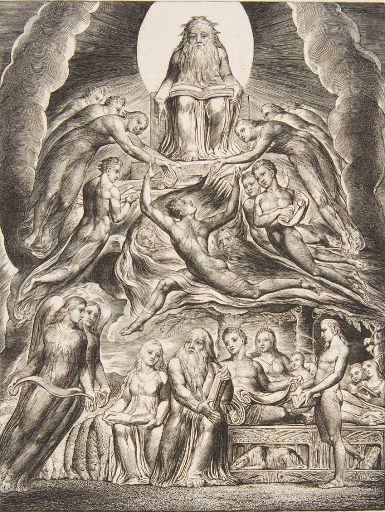 William Blake, Satan before the throne of God from illustrations to the Book of Job