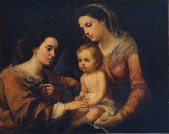 Bartolomé Esteban Murillo, the mystical marriage of St Catherine
