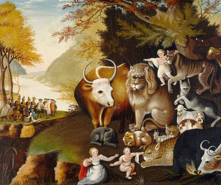 Edward Hicks, the Peaceable Kingdom
