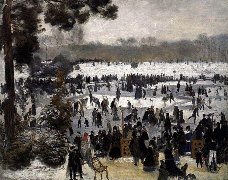Renoir, Patineurs au bois de Boulogne