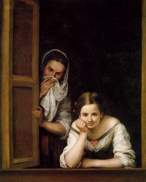 Murillo, two women at a window