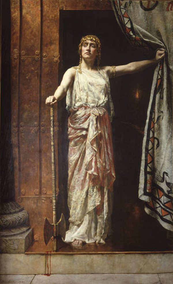 Collier, Clytemnestra after the murder