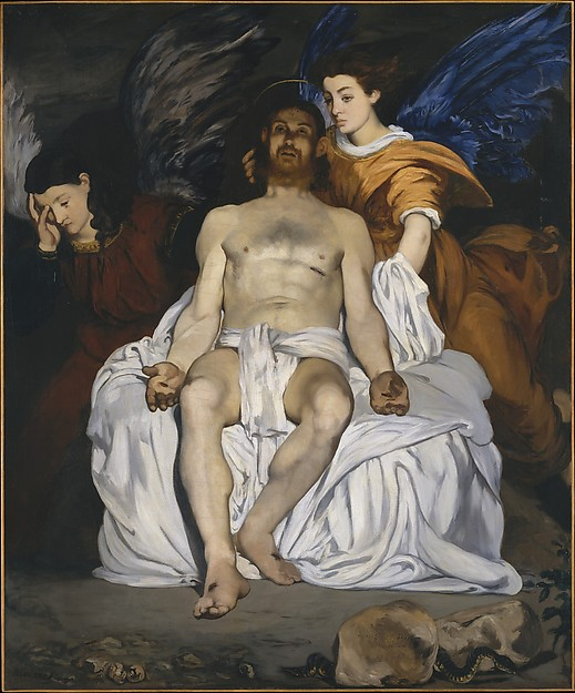 Manet, the dead Christ with angels