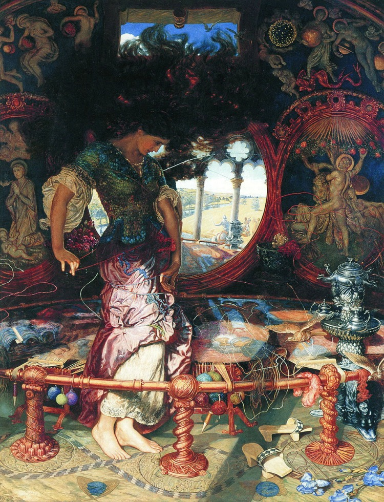 William Holman Hunt, the Lady of Shalott