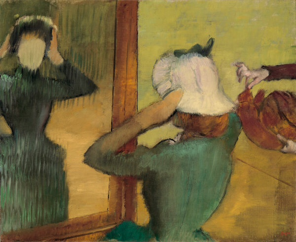 Degas, at the milliner