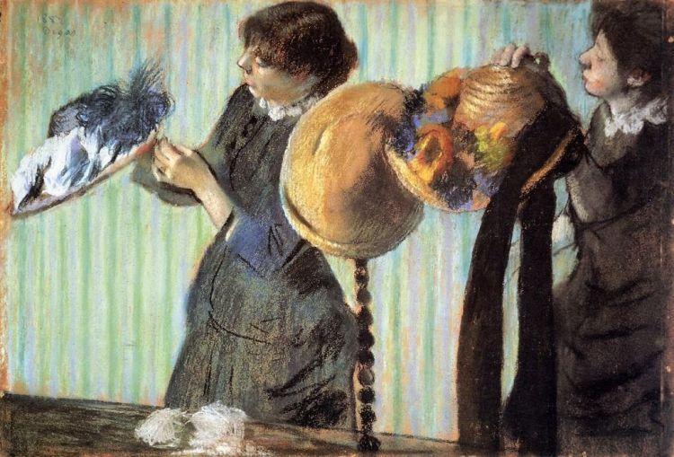 Degas, little milliners