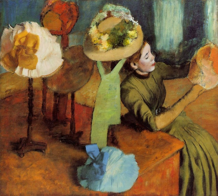 Degas, the milliner's shop