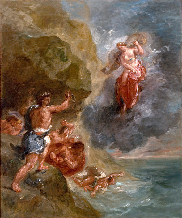 Delacroix, The Winter - Juno Beseeches Aeolus to Destroy Ulysses' Fleet