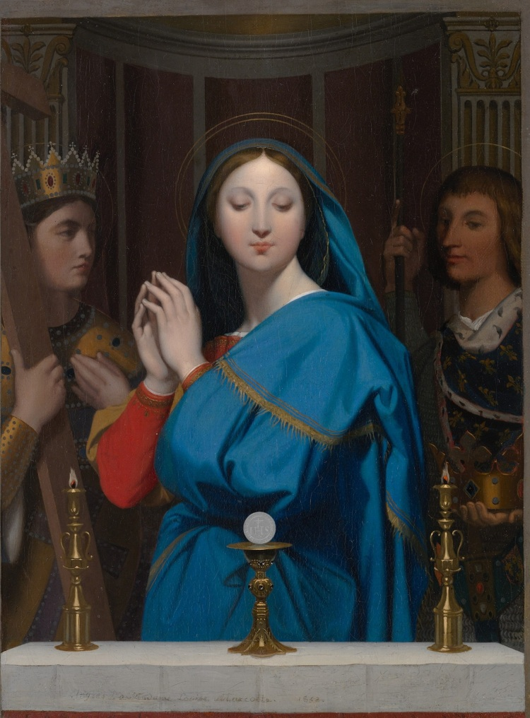 Ingres, the Virgin adoring the Host