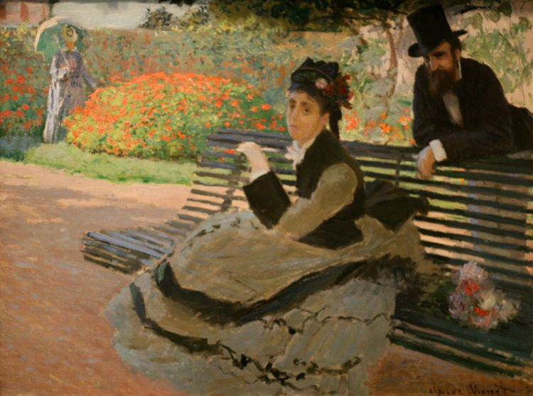 Monet, Camille Monet on a bench