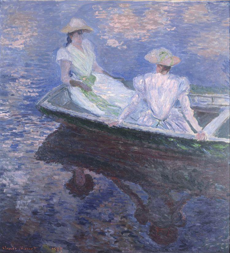 Monet, en bateau