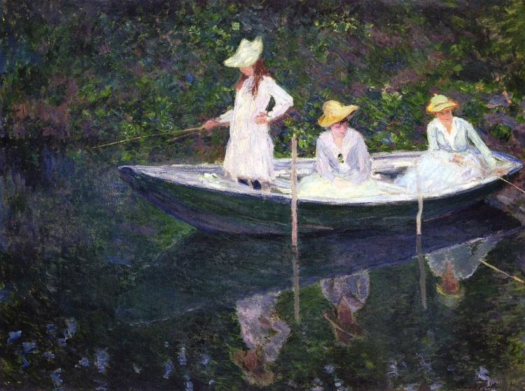 Monet, En Norvégienne. La barque à Giverny
