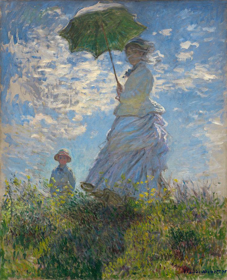 Monet, La Femme à l'ombrelle
