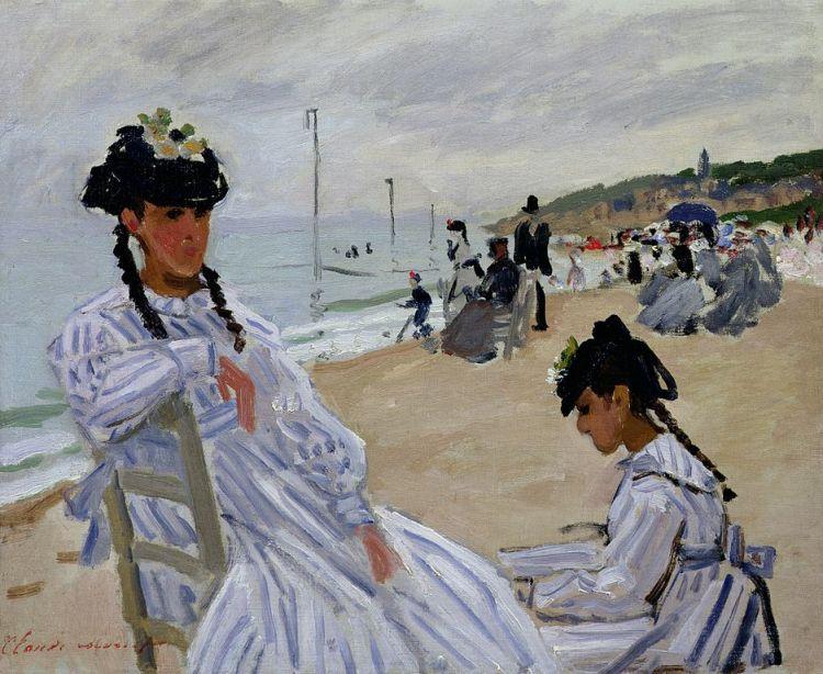 Monet, Sur la plage à Trouville
