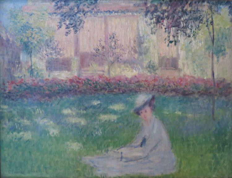 Monet, woman in a garden