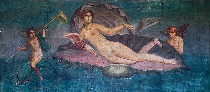 Aphrodite Anadyomene at Pompeii, in Encaustic by Apelles