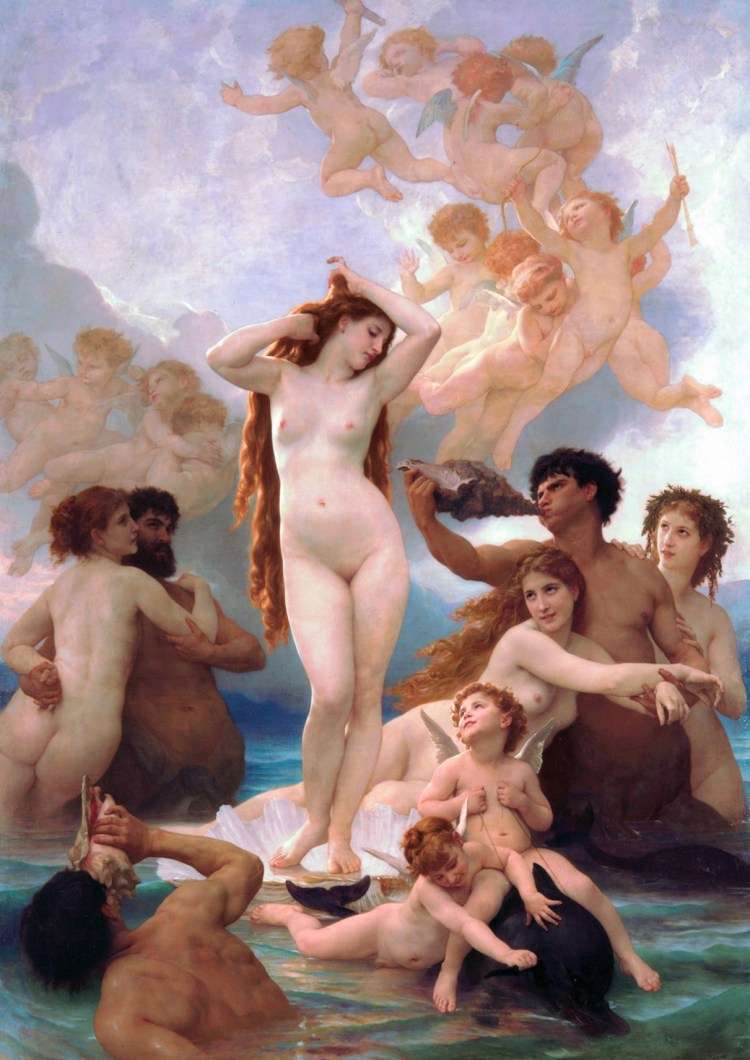 Bouguereau, the Birth of Venus