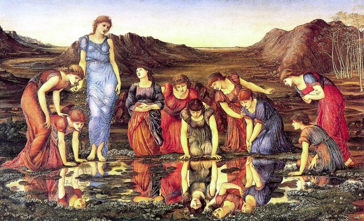 Burne-Jones, the Mirror of Venus featured
