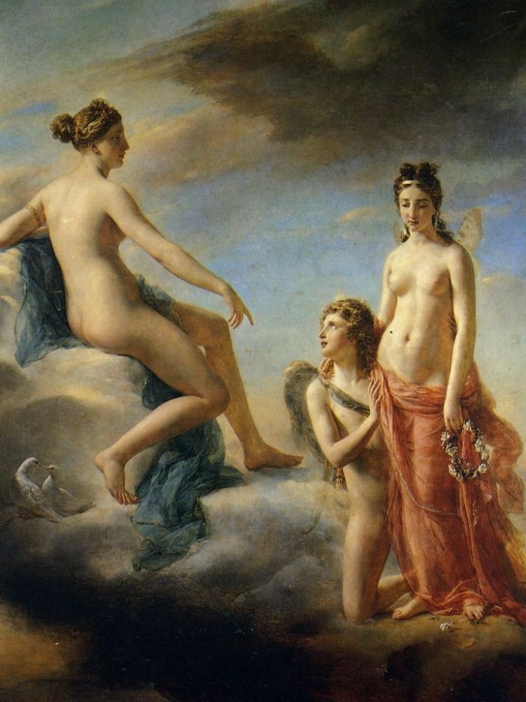 Georges Rouget, Cupid pleads Venus to pardon Psyche