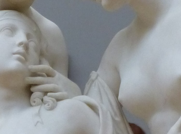 Hylas surprised by the Naiades, her hand on his face