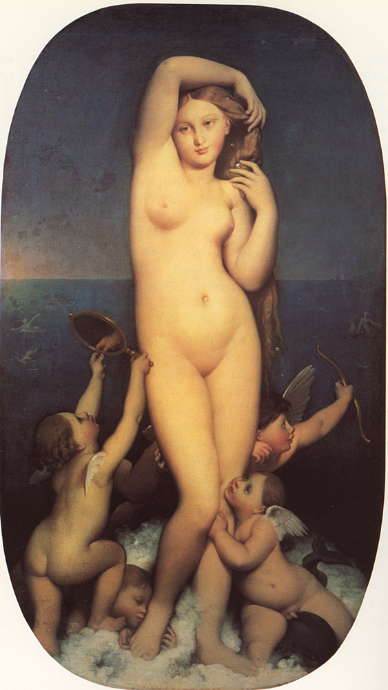 Ingres, Venus Anadyomene- rising from the sea