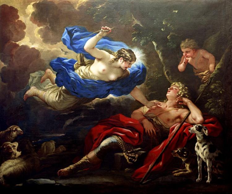 Luca Giordano, Diana and Endymion