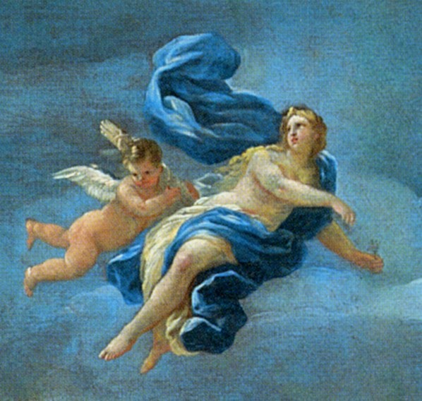 Luca Giordano, the triumph of Bacchus, Neptune and Amphitrite detail 1