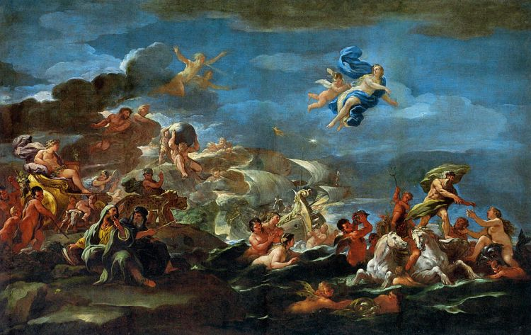Luca Giordano, the triumph of Bacchus, Neptune and Amphitrite