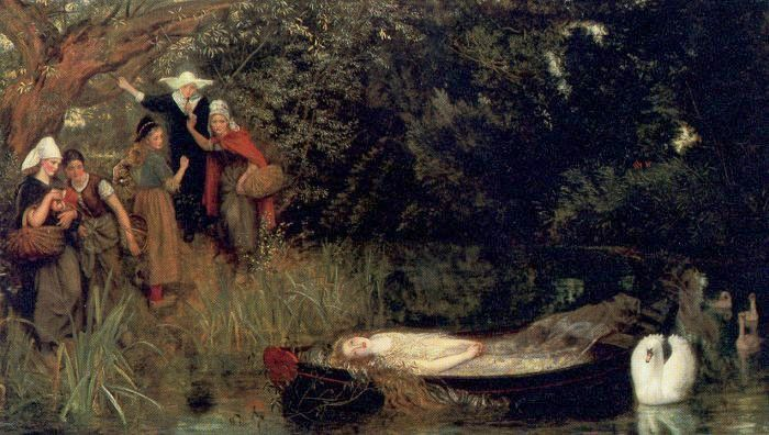 Arthur Hughes, the Lady of Shalott