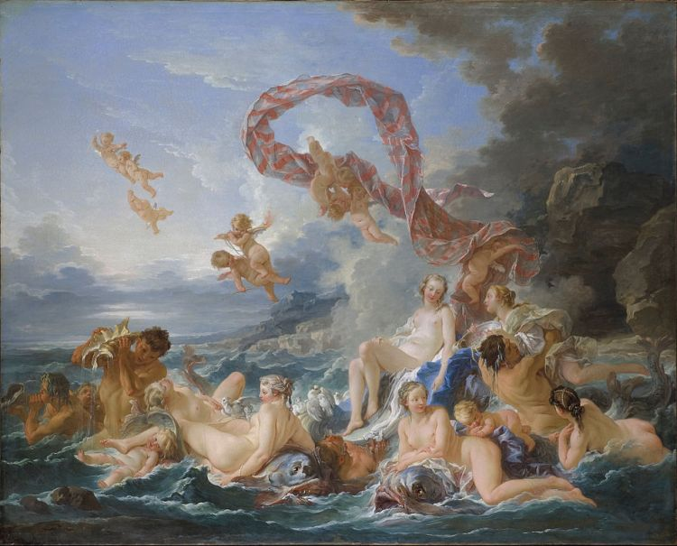 Boucher, the triumph of Venus