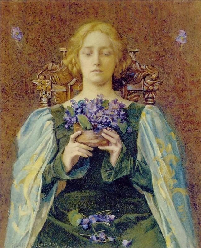 Henry Meynell Rheam, Violets, 1904