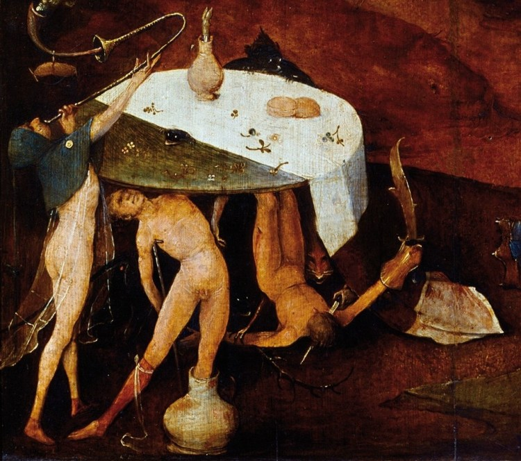 Hieronymus Bosch, The Temptation of St Anthony, detail 6