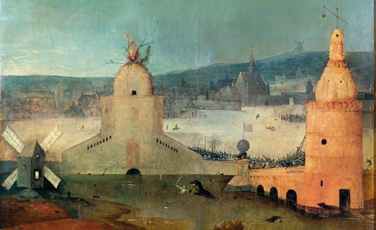 Hieronymus Bosch, The Temptation of St Anthony, detail 8