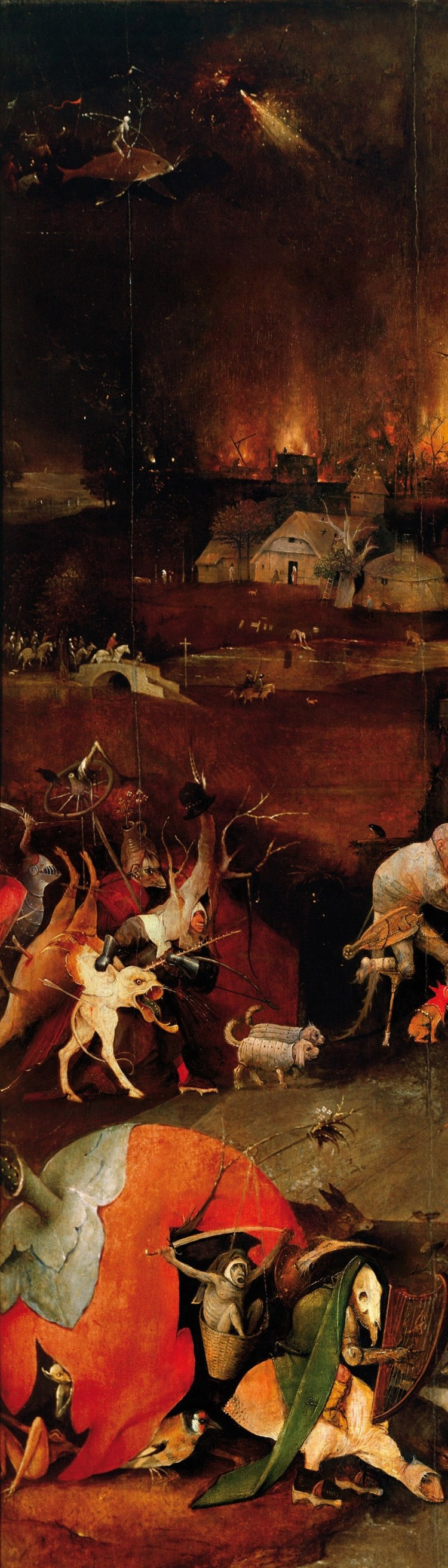 Hieronymus Bosch, The Temptation of St Anthony, detail 9