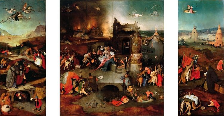 Hieronymus Bosch, The Temptation of St Anthony