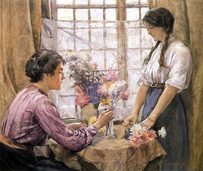 Rheam, arranging flowers